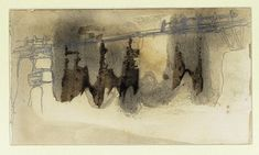 Victor HUGO | Landscape with a Bridge, Guernsey | Stephen Ongpin Fine Art | Collection Small Sketchbook, Automatic Drawing, Landscape Sketch, Max Ernst, Jack Kerouac, Guernsey, Victor Hugo, Visual Effects, Poetry Quotes