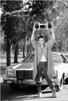 John Cusack Surprises Peter Gabriel With Boombox Concert Cameo -- you know because John Cusack was Lloyd Dobler in Say Anything. Peter Gabriel, The Breakfast Club, Bon Film, Teen Movies, College Movies, My Pool, My Generation, Romantic Movies, Romantic Scenes
