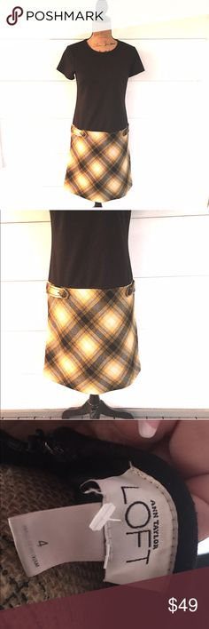 🚨$10-$25 BLOWOUT SALE --EVERYTHING MUST GO! 🚨 Worn once. Wool bottom. Yellow plaid.   Retail $69.95  •no trades•no offsite transactions•no low balls•offers considered through the offer feature only!•save when you bundle• LOFT Dresses