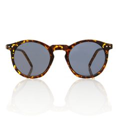 O'Malley Sunglasses Tortoise Round Frame Smoke Lens Glasses