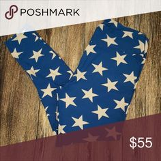 LuLaRoe TC BLUE STAR leggings Brand new in bag.  TC tall and curvy (fits most 12-22) blue star leggings.  Hard to find print!  *I am NOT a LuLaRoe consultant. Just an addict who loves to hunt for great prints.* LuLaRoe Pants Leggings