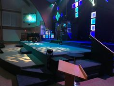 Bob Vandervliet fromGrace Church Powell inPowell, Ohio brings us this huge LED tape design.Wooden grid frame panels lined with LED tape and controlled via DMX LED tape decoders. Total cost $1,600... Wood, paint, LED tape and supplies, power supplies, and DMX encoders.