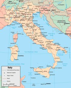 italië kaart
