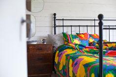 Marimekko's Karuselli bed linen. From the blog Vihreä talo.