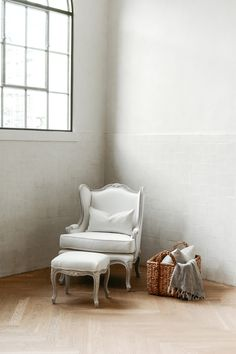 The Regent Lounge Chair and Ottoman from the Louis XV style Regent Collection from Ave Home