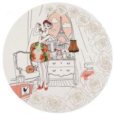 Idée cadeau girly, le plat à gateau Parisiennes  - La Chaise Longue