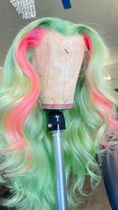 Carnival Hairstyles, Box Braids Hairstyles, Hairdos, Hair Color For Dark Skin, Hair Color Streaks, Creative Hair Color, Cute Hair Colors, Candy Hair, Colored Wigs