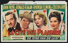 Tennessee's Partner (1955) Stars: John Payne, Ronald Reagan, Rhonda Fleming, Coleen Gray, Anthony Caruso ~ Director: Allan Dwan (Belgian Poster)