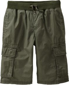 Boys Pull-On Cargo Shorts Product Image - comfy!