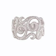 Natalie K - 18k White Gold Diamond Swirl Fashion Band NK18540-Y