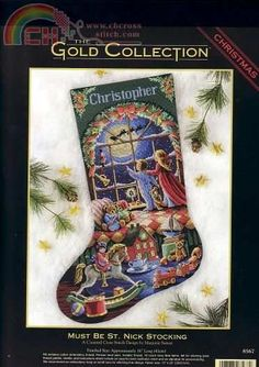 Windswept Santa Christmas Stocking Collection