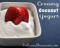 Creamy Coconut Milk Yogurt Recipe | deliciousbosessions.com