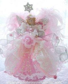 Pink Princess angel tree topper