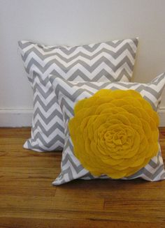 Throw Pillow Covers Set of 2 One 20 x 20  One by JuliaSherryHome, $47.00
