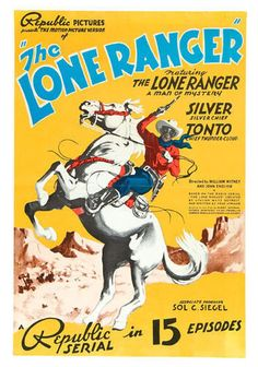 15 Chapter Cliffhanger Serial The Lone Ranger 1938 on DVD | eBay