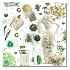 """Green Bio"" by anduu19 on Polyvore featuring beauty, Forever 21, Fuji, WALL, Vikki Chu and GreenTeaBeauty"