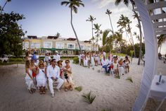 """Evelyn Heredia and Agustin Carro Schuck"" made their dream come true in Punta Cana. Niko Bertino Photography #WeddingsByPalladium #PuntaCana"