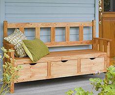 Window Seat Storage Ideas | bench seat with storage drawers by roji