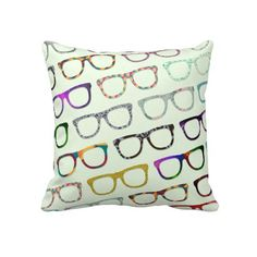 Retro Geek Hipster Glasses pillow