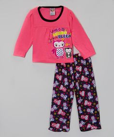 Pink Owl Pajama Set - Infant & Toddler #zulily #zulilyfinds