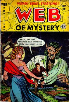 Comic Book Cover For Web of Mystery #11