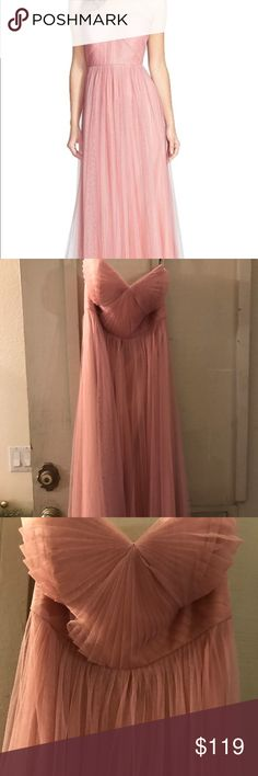 "Jenny Yoo ""Anabelle"" Bridesmaid/ fomal dress sz 4 Brand new with tags size 4 begonia Pink, it has one small tear on back tulle panel. It won't effect Dress because that part will be tie around waist and it won't be visible. This also come with extra tulle sash to make many different looks! Jenny Yoo Dresses Wedding"