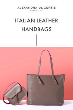 Are you looking for a designer leather handbag? Click through to check out these handbags, handmade in Italy with smooth