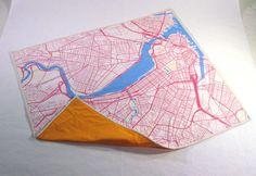 Haptic Lab Boston map baby quilt