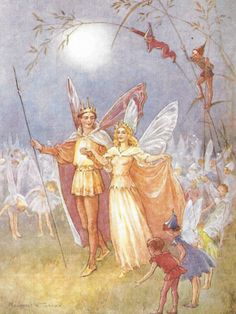 """KING and QUEEN FAIRIES"" Artist: Margaret Tarrant"