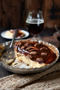 No Bake Cream Cheese Caramel Pumpkin Ale Pie. Free up that oven space with the easy, delicious make-ahead pie!    The end of the year is a bit like dessert