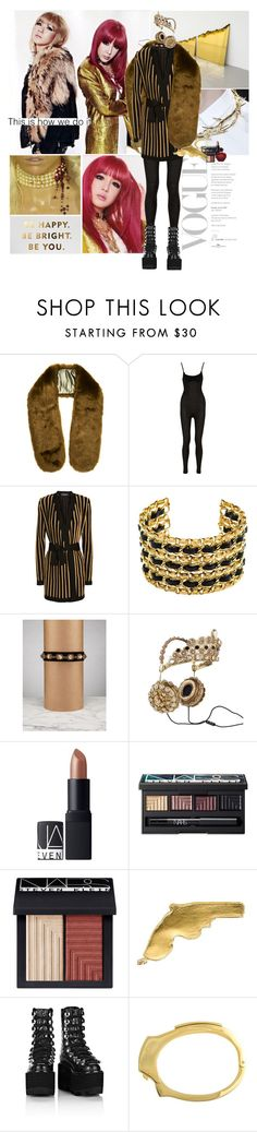 """""""Whoever looks at me can see I'm kind of a killer"""" by gizibe ❤ liked on Polyvore featuring moda, Faith Connexion, Balmain, Chanel, Dolce&Gabbana, NARS Cosmetics, Yves Saint Laurent, Alexander Wang, Cast of Vices y Christian Dior"""