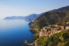 View over the spectacular Cinque Terre coast