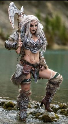 Jessica Nigri as a VikingYou can find Jessica nigri and more on our website.Jessica Nigri as a Viking Fantasy Girl, Fantasy Female Warrior, Chica Fantasy, Fantasy Art Women, Viking Warrior Woman, Warrior Queen, Warrior Girl, Medieval Combat, Costume Viking