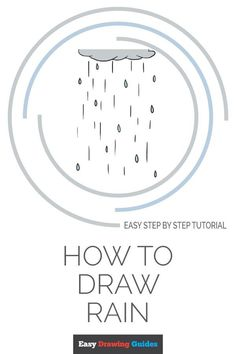 Learn How to Draw Rain: Easy Step-by-Step Drawing Tutorial for Kids and Beginners. #Rain #drawingtutorial #easydrawing. See the full tutorial at… Flower Drawing Tutorials, Drawing Tutorials For Kids, Drawing For Kids, Drawing Ideas, Drawing Rain, Nature Drawing, Autumn Art Ideas For Kids, Spider Drawing, Acrylic Painting Lessons