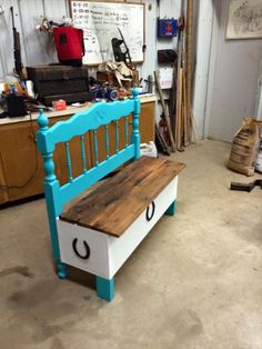 Old Headboard & Reclaimed Pallet Bench- 19 Pallet Furniture Ideas   DIY to…