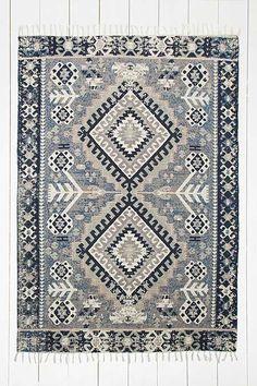 Hana Kilim 5x7 Blue Rug