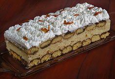 Karamellás-krémsajtos piskóta Hungarian Cake, Hungarian Recipes, Hungarian Food, Sweet Cookies, Cake Cookies, Sweet Recipes, Cake Recipes, Ital Food, Non Plus Ultra