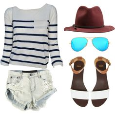 A boho summer look featuring our Audrey Boat Neck top http://polyv.re/10nj2BH