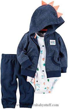Baby Boy Clothes Carter's 3 Piece Monster Set - Navy - 12-18 Months