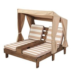 KidKraft Double Chaise Lounge with Cup Holders  Weather resistant cotton canopyFor ages 3 plusConstructed with weather resistant wood  http://dailydealfeeds.com/shop/kidkraft-double-chaise-lounge-with-cup-holders/