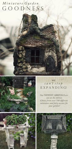 We have over 700 different miniature and fairy accents for your garden