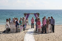The most stunning backdrop for your ceremony in Naxos Greece. Naxos Greece, Purple Beach, Greece Wedding, Beautiful Beaches, Destination Wedding, Dolores Park, Backdrops, Travel, Viajes