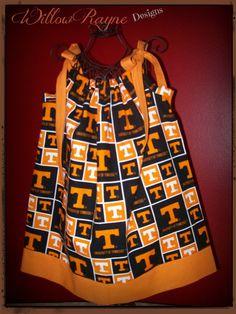 Pillowcase Dress TN VOLS University of by WillowRayneDesigns, $22.50