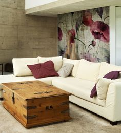 Panoramic wallpaper POPPIES Watercolor Collection by N.O.W. Edizioni