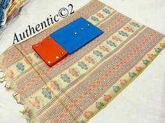 *summer collection* Cotton silk top (2.5 mts approx ) Khadi Dupatta printed Semi cotton bottom 9 buttons per piece