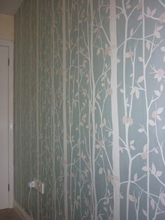 Laura Ashley Cottonwood Duck Egg Bedroom Feature Wall