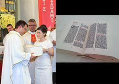 Slovenian girl spent over a year and a half by rewriting whole Bible as a present for his brother for being a priest for the first time.