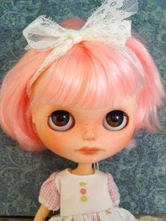 Custom Blythe Doll Bonbon Pink Hair Neemo Body OOAK by Marina   eBay