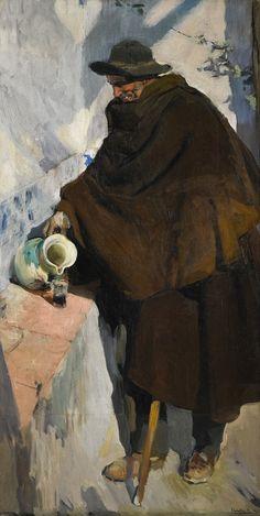 Viejo de Castilla by Sorolla. Oil on canvas