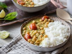 Vegan for urgency: spicy chickpea curry - Healthy Vegan Repices Superfood, Curry Ingredients, Vegan Stew, Clean Eating, Healthy Eating, Vegan Lunches, Chickpea Curry, Eat Smart, Soul Food